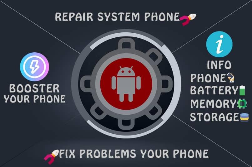 aplicacion repair system para escanear y solucionar errores